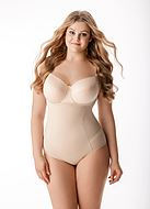 Shapewear body, without cups, belly, waist and buttocks control